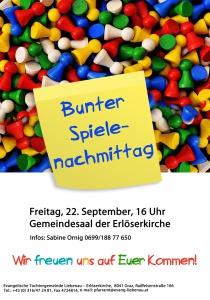 Bunter Spielenachmittag @ Gemeindesaal Erlöserkirche-Liebenau | Graz | Steiermark | Österreich